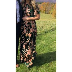 Modcloth Soiree Saunter Velvet Maxi Dress